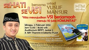 Flayer UYM 2 Feb 2014 VSI YUSUF MANSUR HUBUNGI KAMI PIN BB 261a4a2F DYCHANA NETWORK